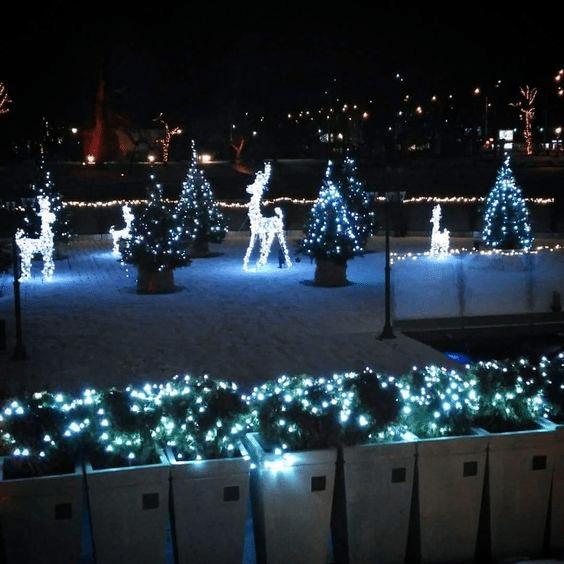 Vánoční svítící dekorace na zahradu i před dům sobi.