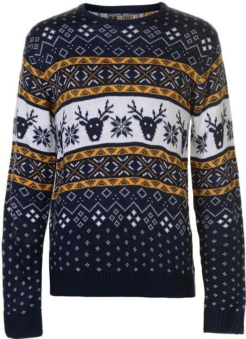 Elegantní pánský svetr s norským vzorem.
