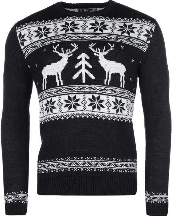 Vypasovaný pánský svetr s jeleny.