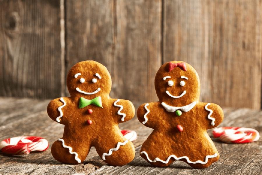 dva veganské vánoční perníčky
