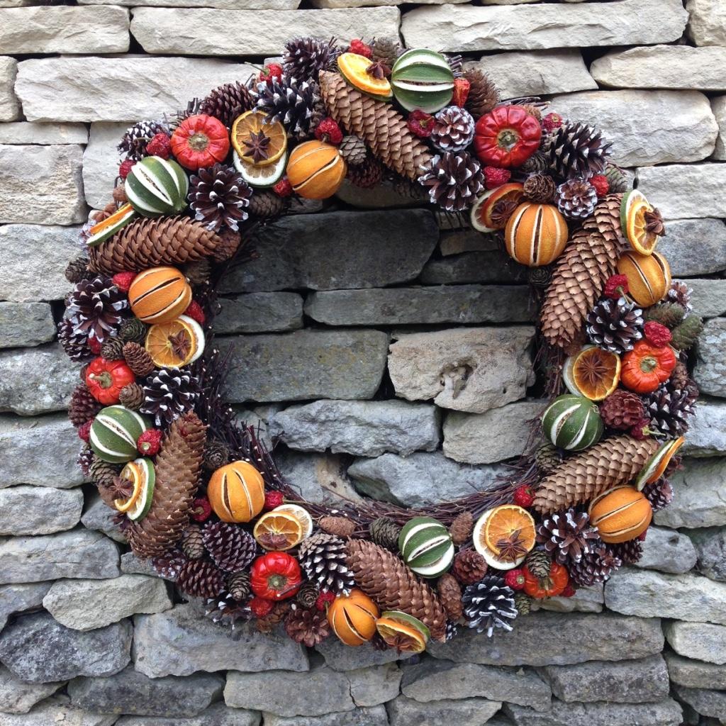 Vánoční věnec ze sušeného ovoce