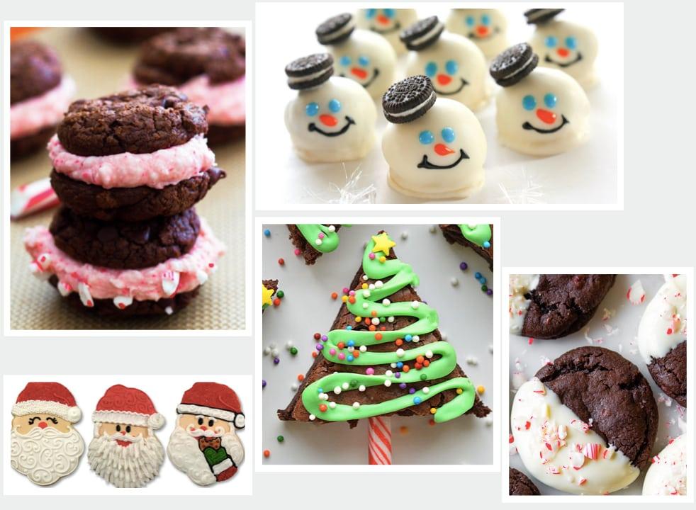 Inspirace na ozdobení vánočního cukroví.