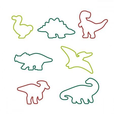 Dinosaury můžete vykrajovat pomocí těchto tvořítek