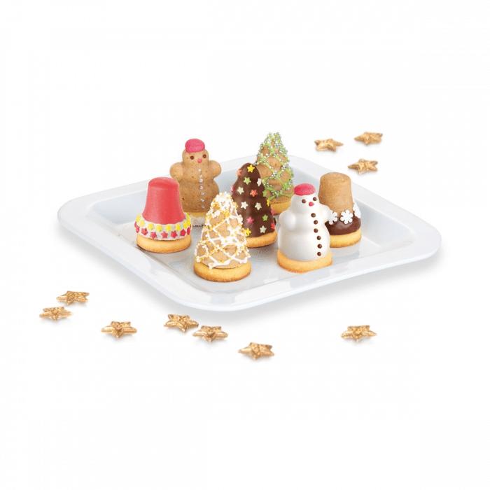 Vánoční cukroví plněné z otevíracích formiček.