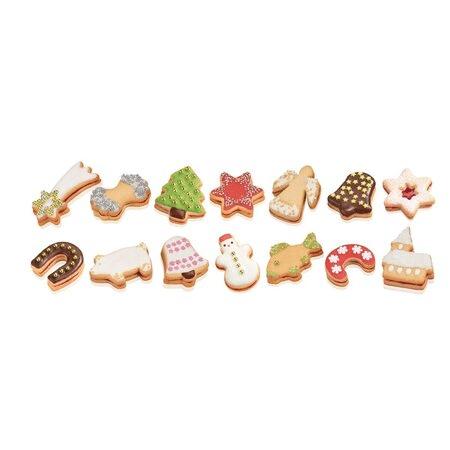 Vykrajované vánoční cukroví.