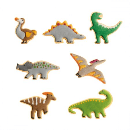 Vánoční cukroví dinosauři vykrajovátka.
