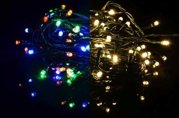 Blikající vánoční led řetěz