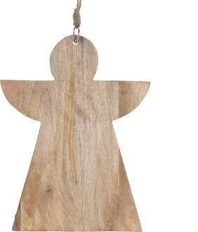 Dřevěné kuchyňské prkénko ve tvaru anděla.