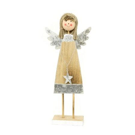 Vánoční dekorace- dřevěný andělíček.
