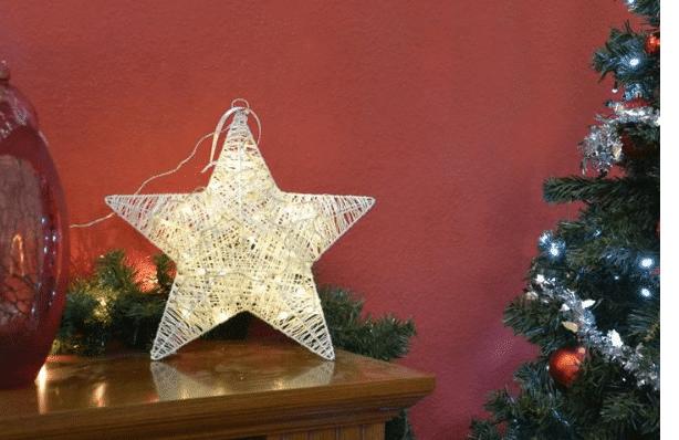 vánoční hvězda z deseti diod