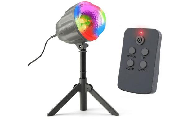 laserový projektor svítící mnoha barvami