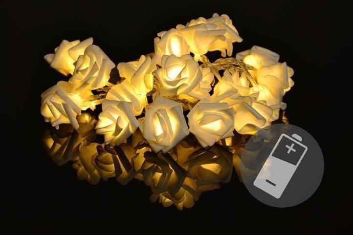 LED osvětlení s malými růžičkami