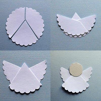 Návod jak si vyrobit vánočního anděla z papíru.