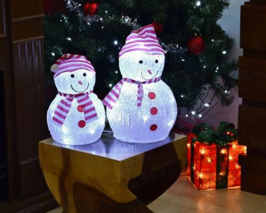 akrylový svítící sněhulák