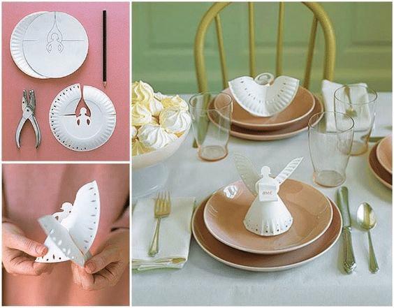 Návod na výrobu andílků z papírových tácků.