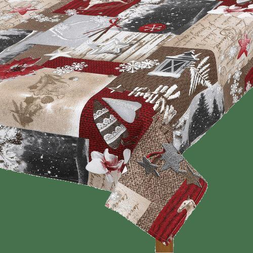 Zasněžené Vánoce je ubrus s vánočními vzory