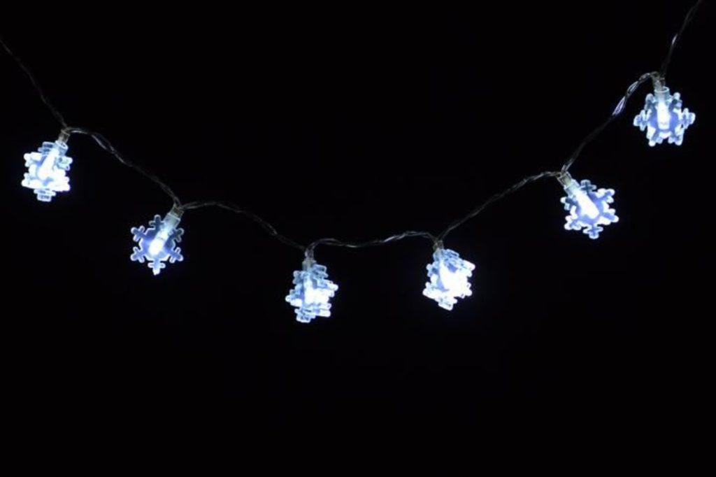 vánoční osvětlení s vločkami