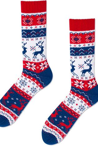 Velmi teplé vánoční ponožky