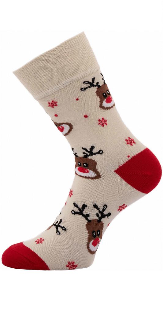 Ponožky se soby pro dámy