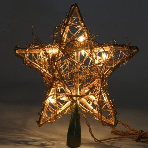 Hvězdu z proutí můžete osvítit vánočním osvětlením