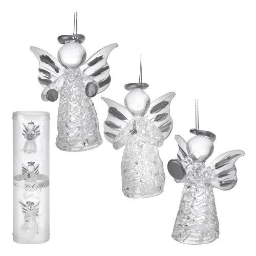 Skleněný andílek na vánoční stromeček