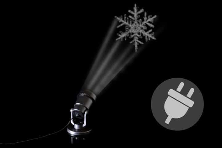 Vánoční projektor s vločkami