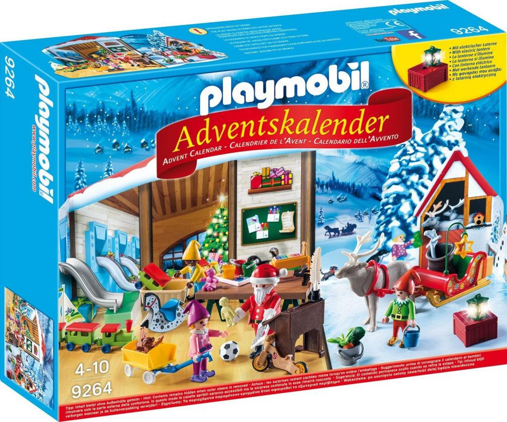 Vánoční kalendář Playmobil Santova dílna.