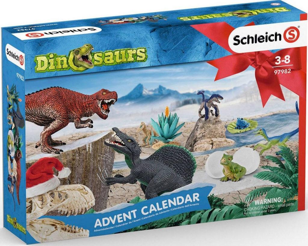 Kalendář pro adventní období Schleich pro kluky, kteří milují dinosaury.
