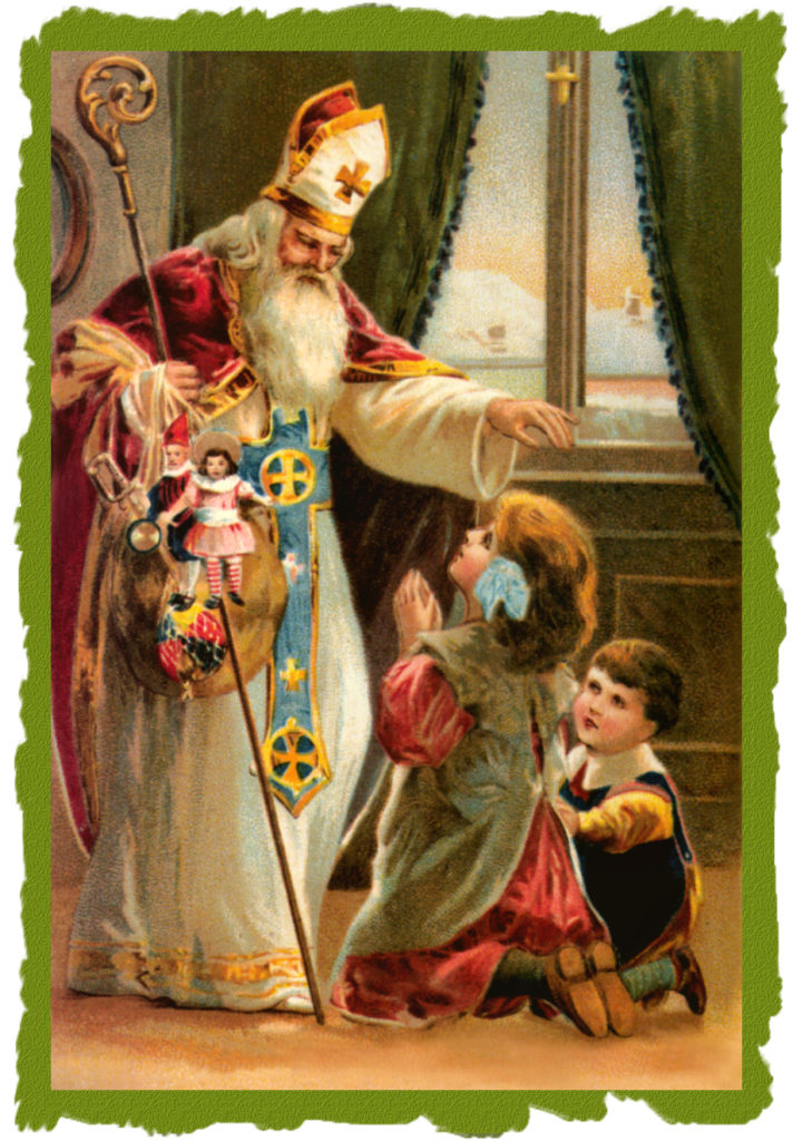 Svatý Mikuláš s dětmi.