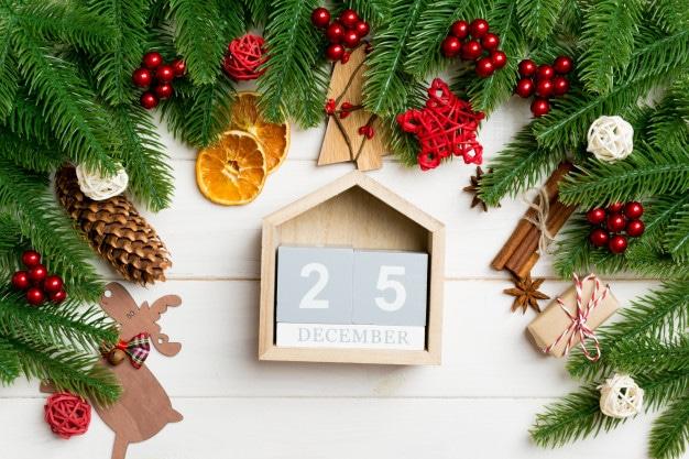 Svátky vánoční začínají na Boží hod, což je 25. 12.