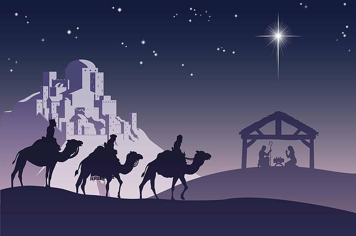 Vánoční obrázky jsou plné naděje.