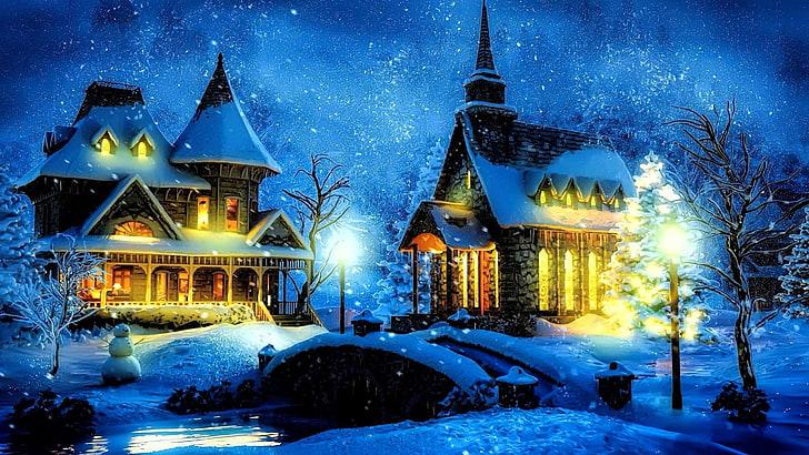 Na vánoční pozadí se hodí rozhodně kupa sněhu.