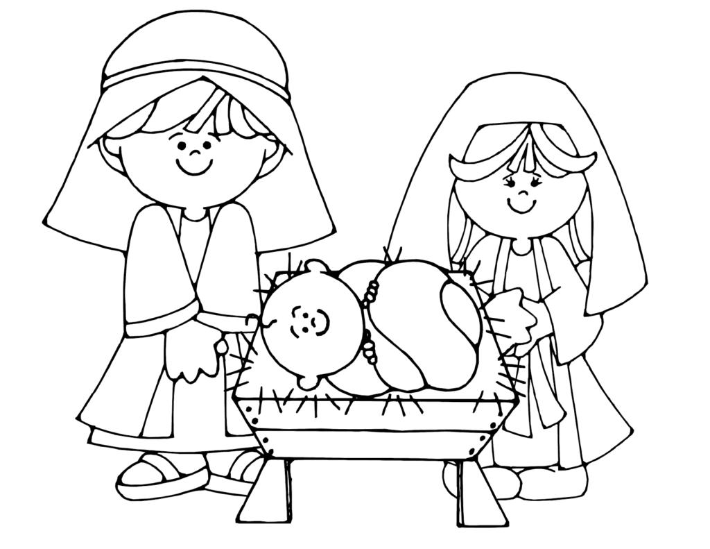 Omálovánka pro děti s vánočním motivem.