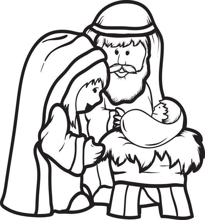 Marie, Josef a Ježíš.