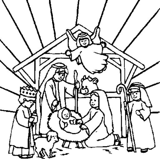 Betlém - omalovánka ke stažení zdarma.