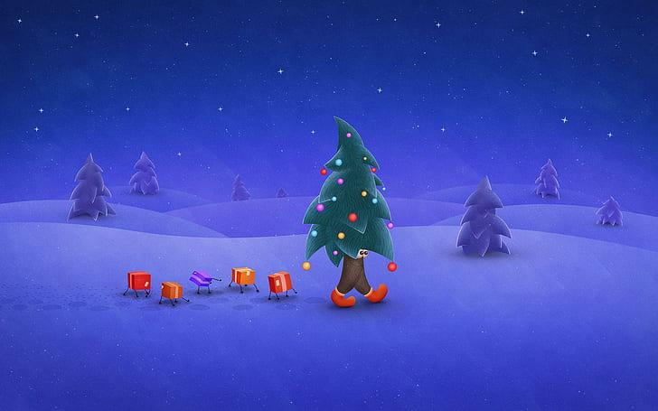 Veselé vánoční pozadí na plochu.