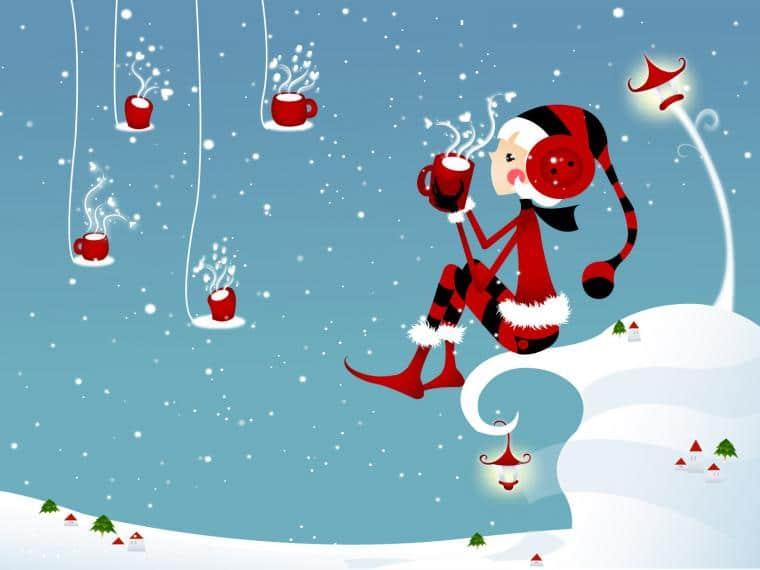 Vektorový vánoční obrázek.