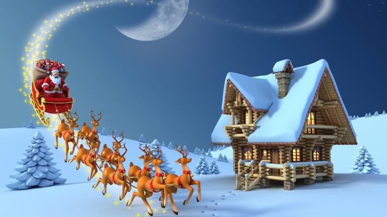 Tu pravou atmosféru Vánoc navodí i zasněžená krajinka.