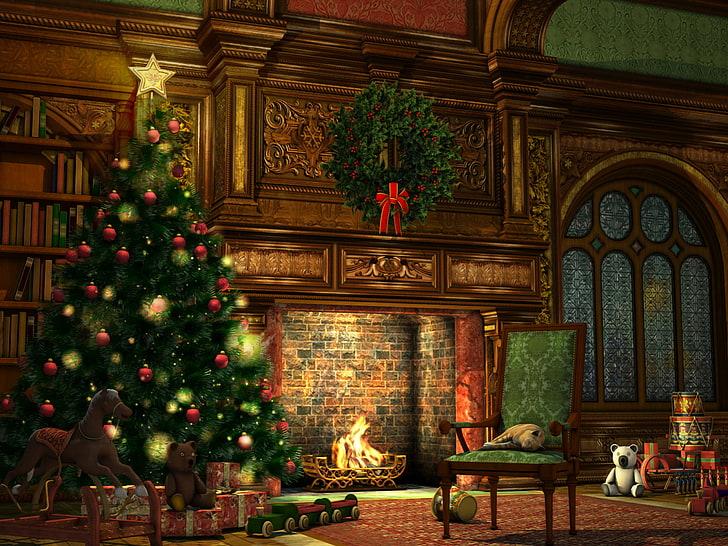 Krásná vánoční plocha na mobil.