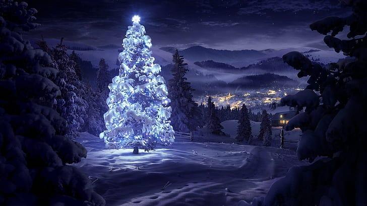 Vánoční strom jako pozadí.