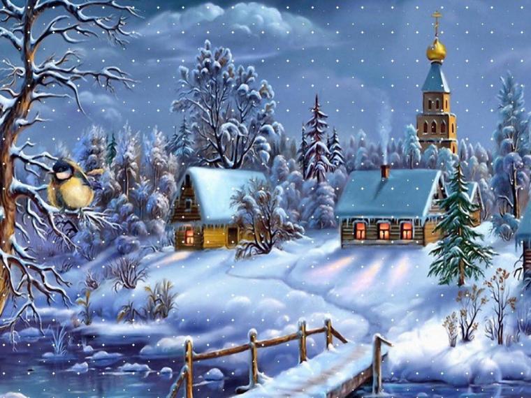 Zimní krajinky jsou zkrátka krásné.