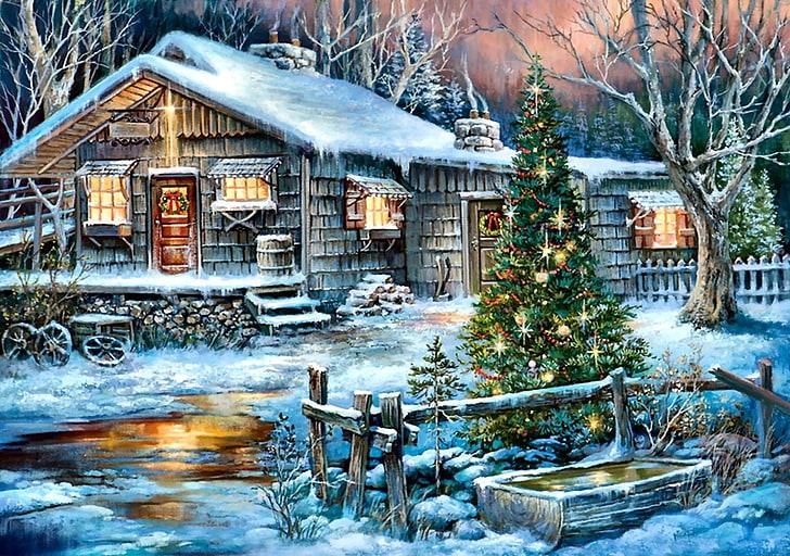Toto vánoční pozadí je zkrátka kouzelné.