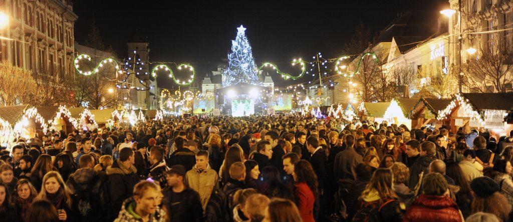 Tak to vypadá na vánočních trzích v Košicích.
