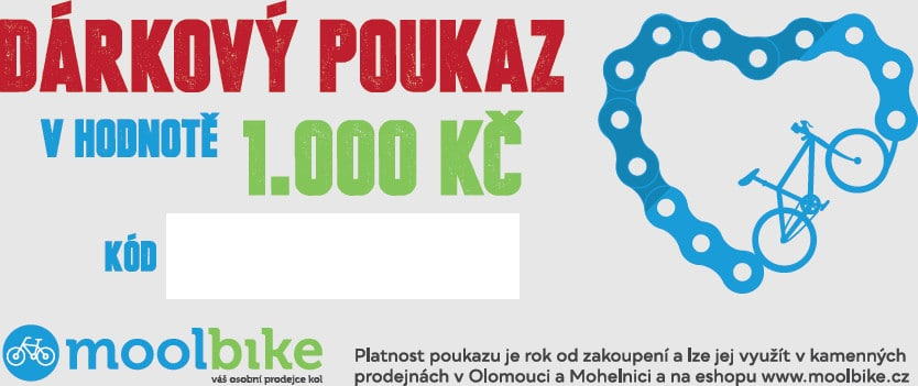 Dárkovými poukázkami do obchodu moolbike.cz zase cyklisty.