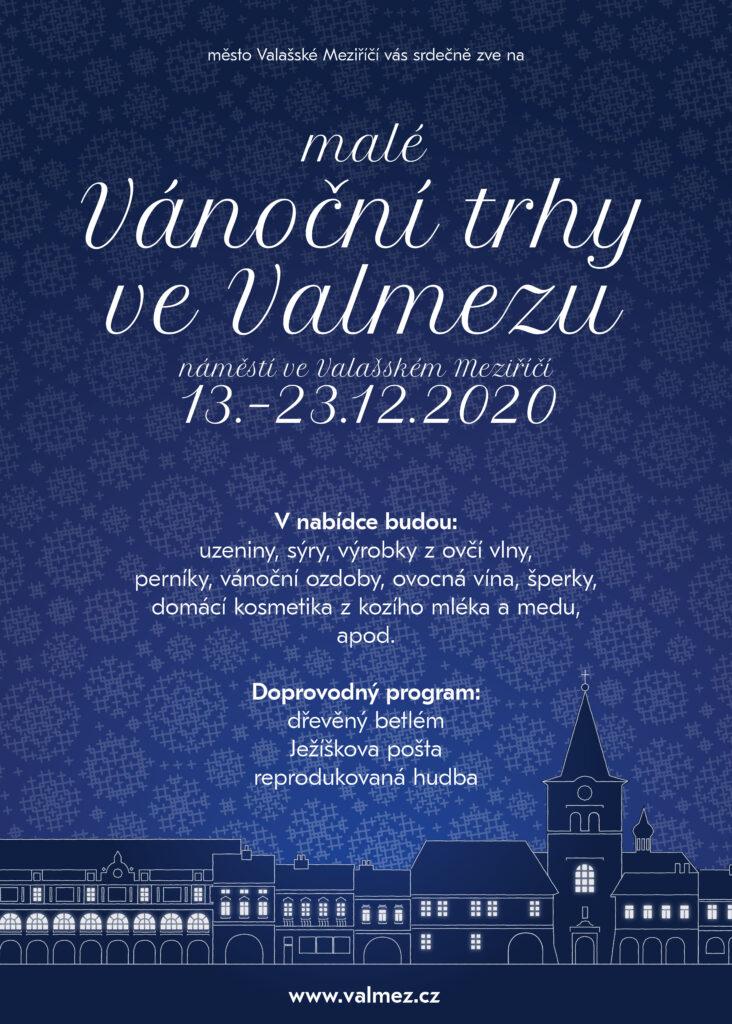 Program vánočního jarmarku ve Valašském Meziříčí pro rok 2020.