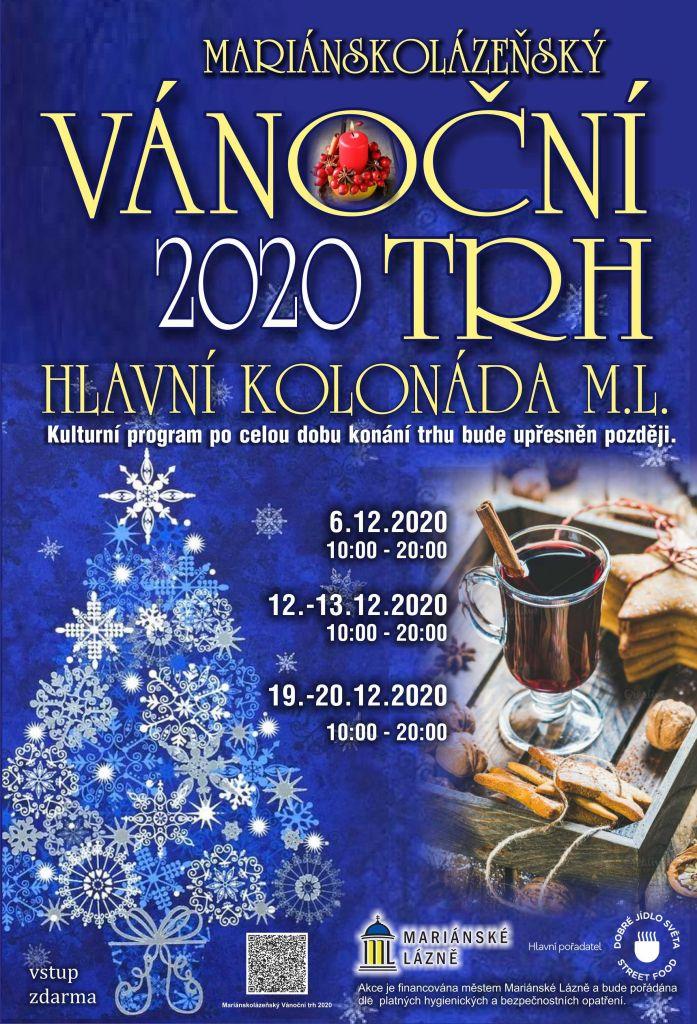 Plakát mariánskolázeňských Vánoc.
