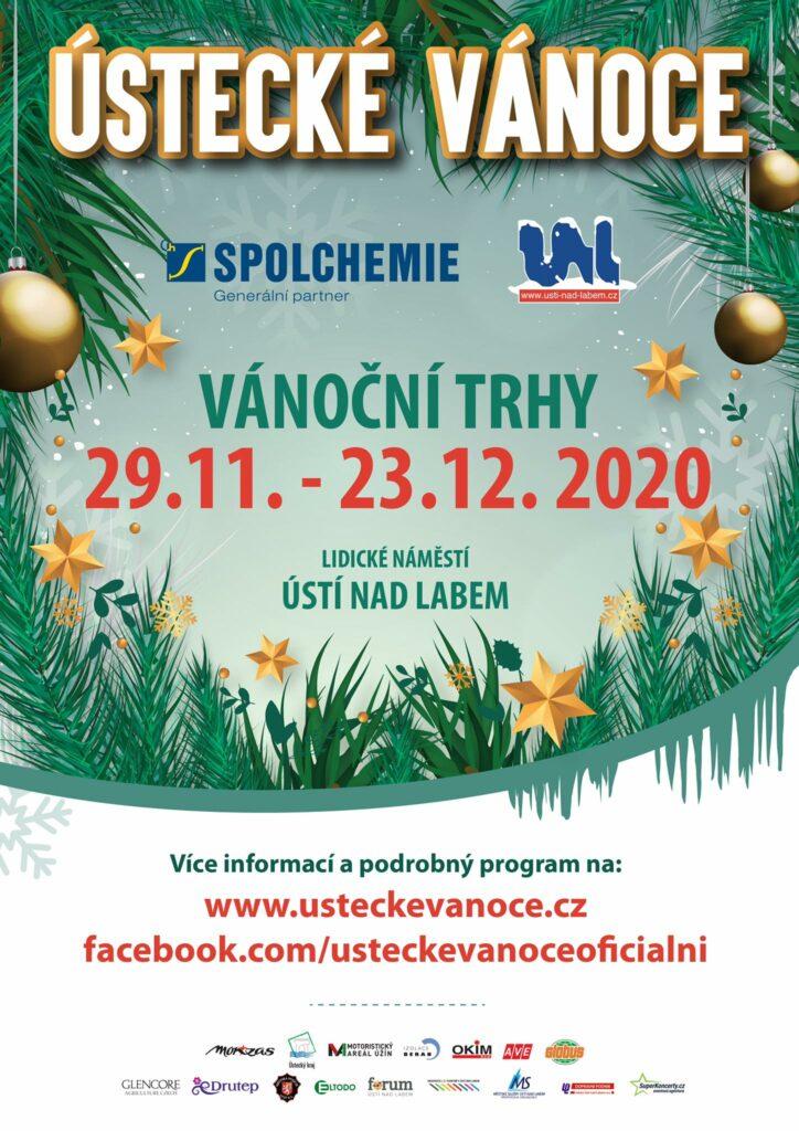 Plakát ústeckých Vánoc pro rok 2020.