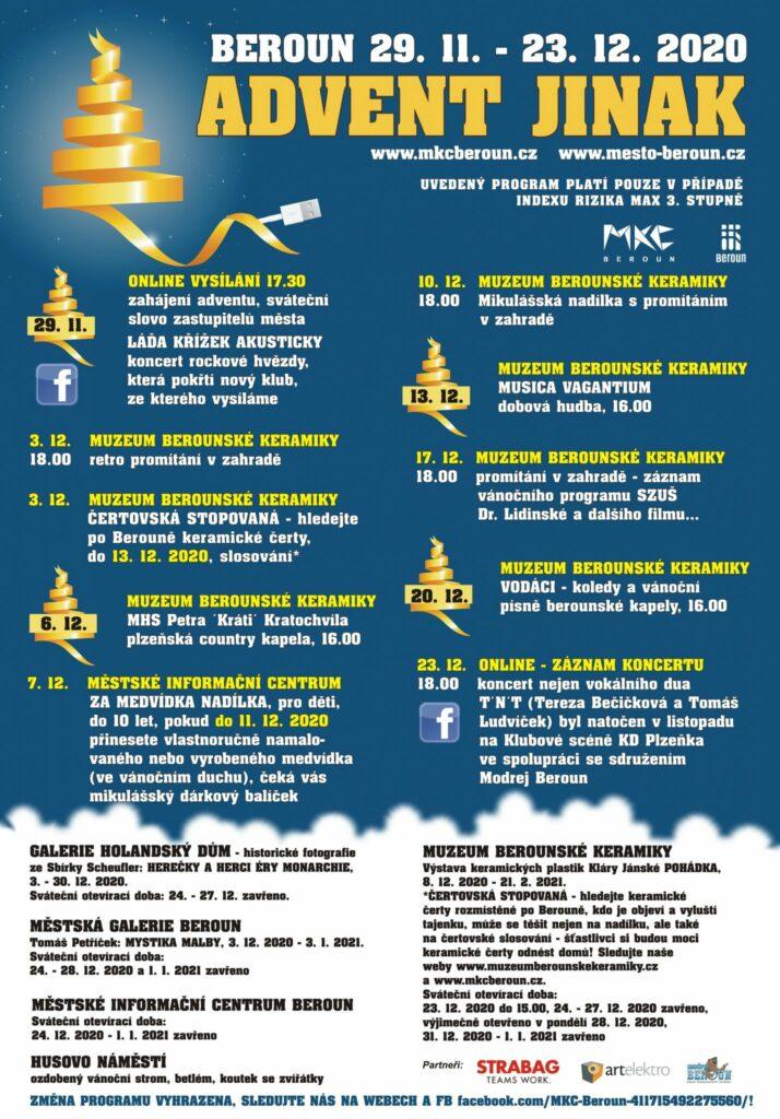 Program berounského adventu pro rok 2020.
