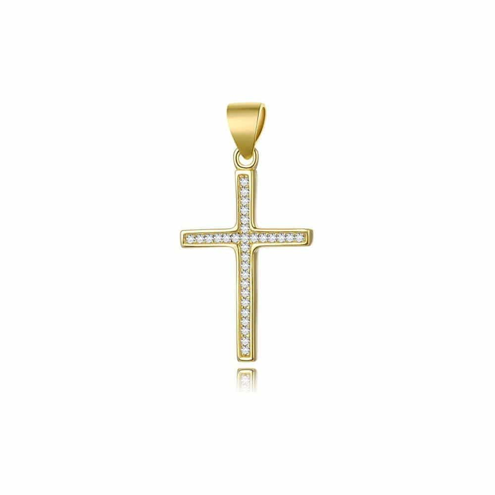Pozlacený křížek na krk.