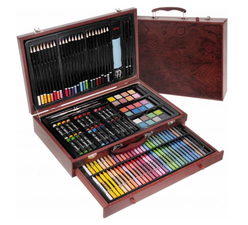 ISO 15611 Velká sada v dřevěném kufříku pro malé malíře 142 ks